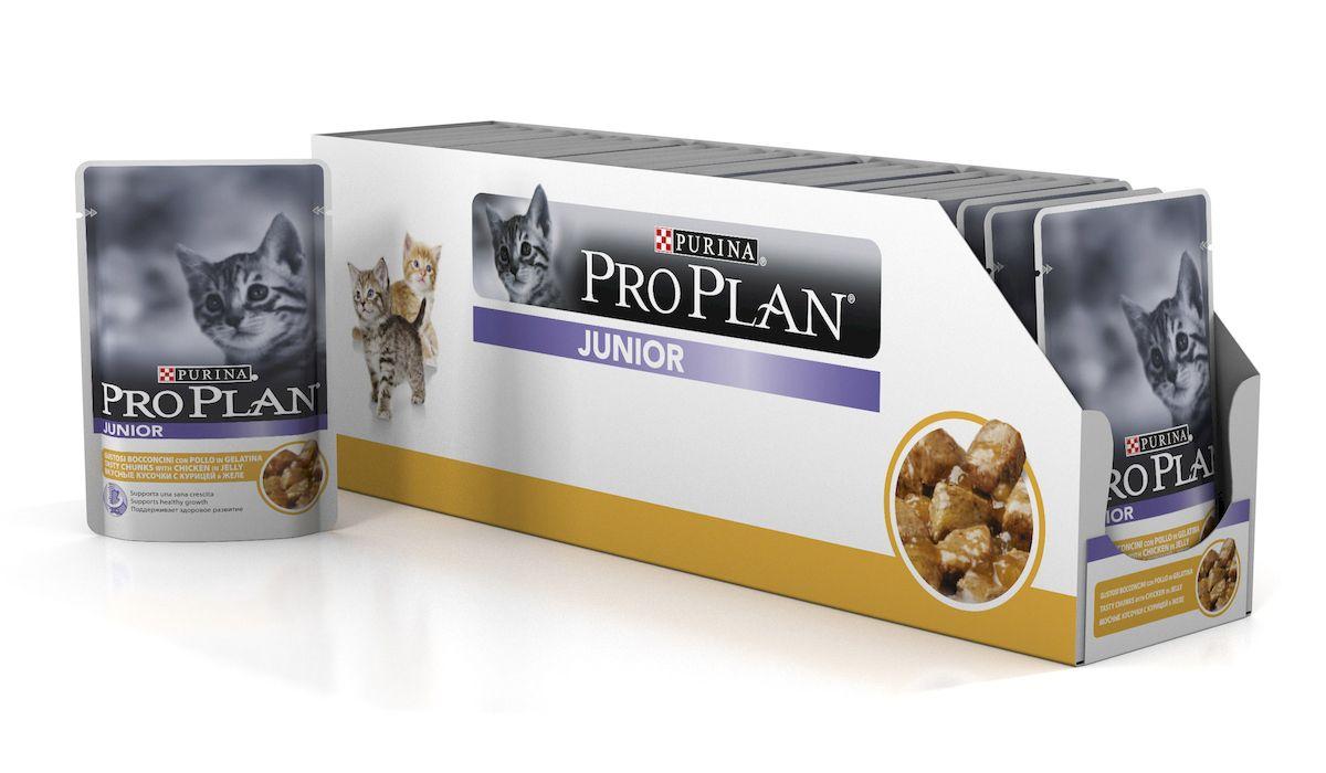 Консервы для котят Pro Plan Junior, с курицей в желе, 24 шт х 85 г