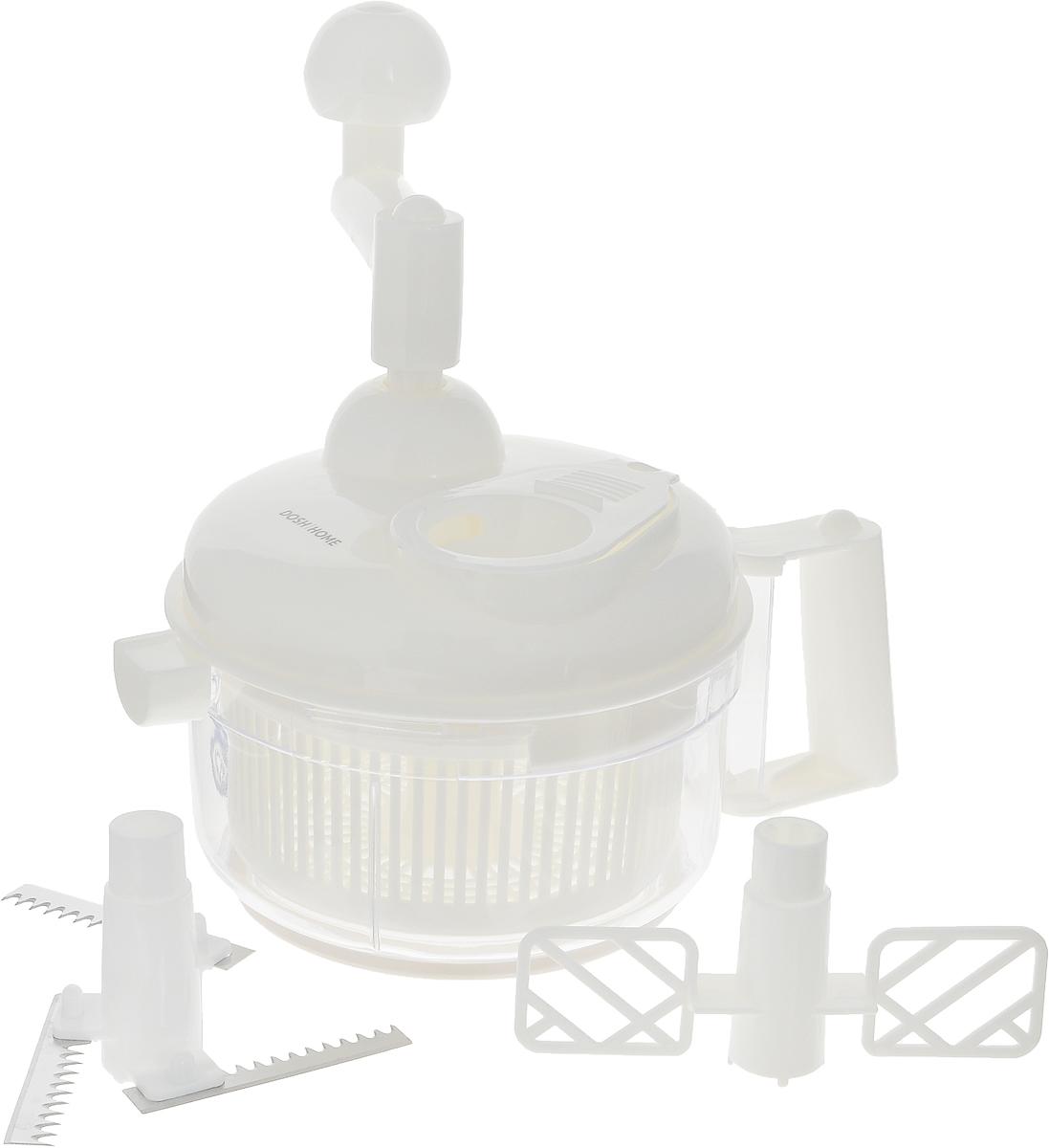 Миксер Dosh Home Vega, мультифункциональный, ручной, с насадками100703Миксер мультифункциональный Dosh Home Vega отлично подходит для быстрого и легкого смешивания, взбивания, измельчения различных продуктов, напитков и много другого.Миксер состоит из основной чаши с крышкой и различными видами насадок-лезвий, для различных функций - смешивание и измельчение. Оснащен удобной ручкой, для удобного использования. Изготовлено из прочного пластика, лопасти из высококачественной нержавеющей стали. Можно мыть в посудомоечной машине.Диаметр чаши (по верхнему краю): 17 см.Высота миксера: 18 см.