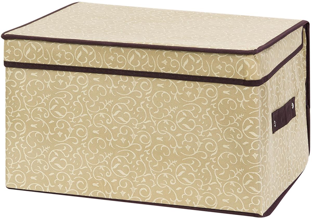 Кофр складной для хранения El Casa Золотой узор, 40 х 30 х 25 см