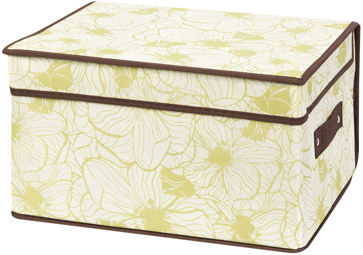Кофр складной для хранения El Casa Цветы на бежевом, 35 х 30 х 20 см370737Кофр для хранения представляет собой закрывающуюся крышкой коробку жесткой конструкции, благодаря наличию внутри плотных листов картона. Специально предназначен для защиты ваших вещей от воздействия негативных внешних факторов: влаги и сырости, моли, выгорания, грязи. Благодаря оригинальному дизайну кофр будет гармонично смотреться в любом интерьере.