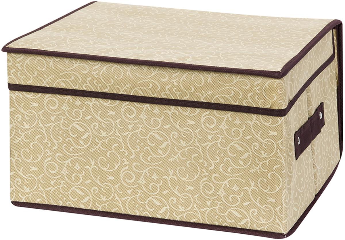 Кофр складной для хранения El Casa Золотой узор, 35 х 30 х 20 см ваза arwa 20 х 20 х 30 см