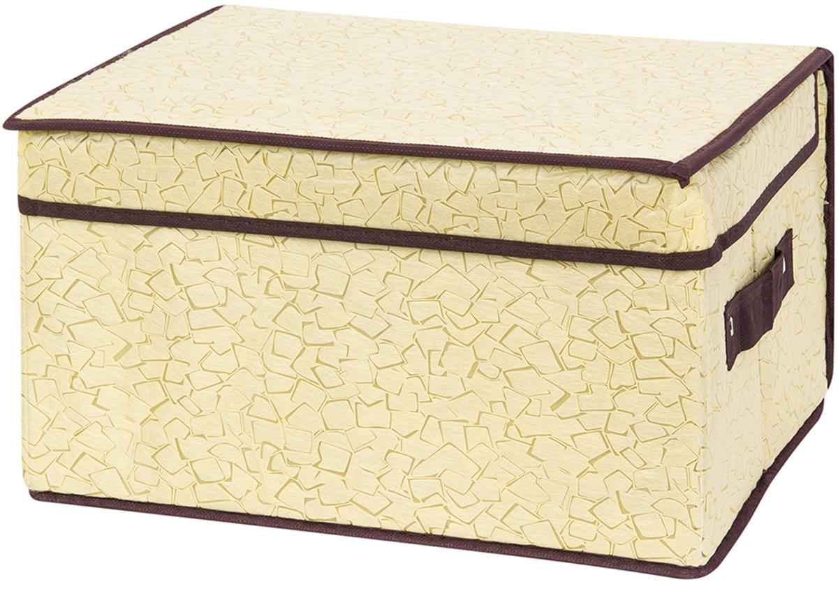 Кофр складной для хранения El Casa Песочная мозаика, 35 х 30 х 20 см370739Кофр для хранения представляет собой закрывающуюся крышкой коробку жесткой конструкции, благодаря наличию внутри плотных листов картона. Специально предназначен для защиты Вашей одежды от воздействия негативных внешних факторов: влаги и сырости, моли, выгорания, грязи. Благодаря оригинальному дизайну кофр будет гармонично смотреться в любом интерьере. Размер 35х30х20 см.Кофр складной для хранения 35*30*20 см. EL Casa Песочная мозаика + ручка