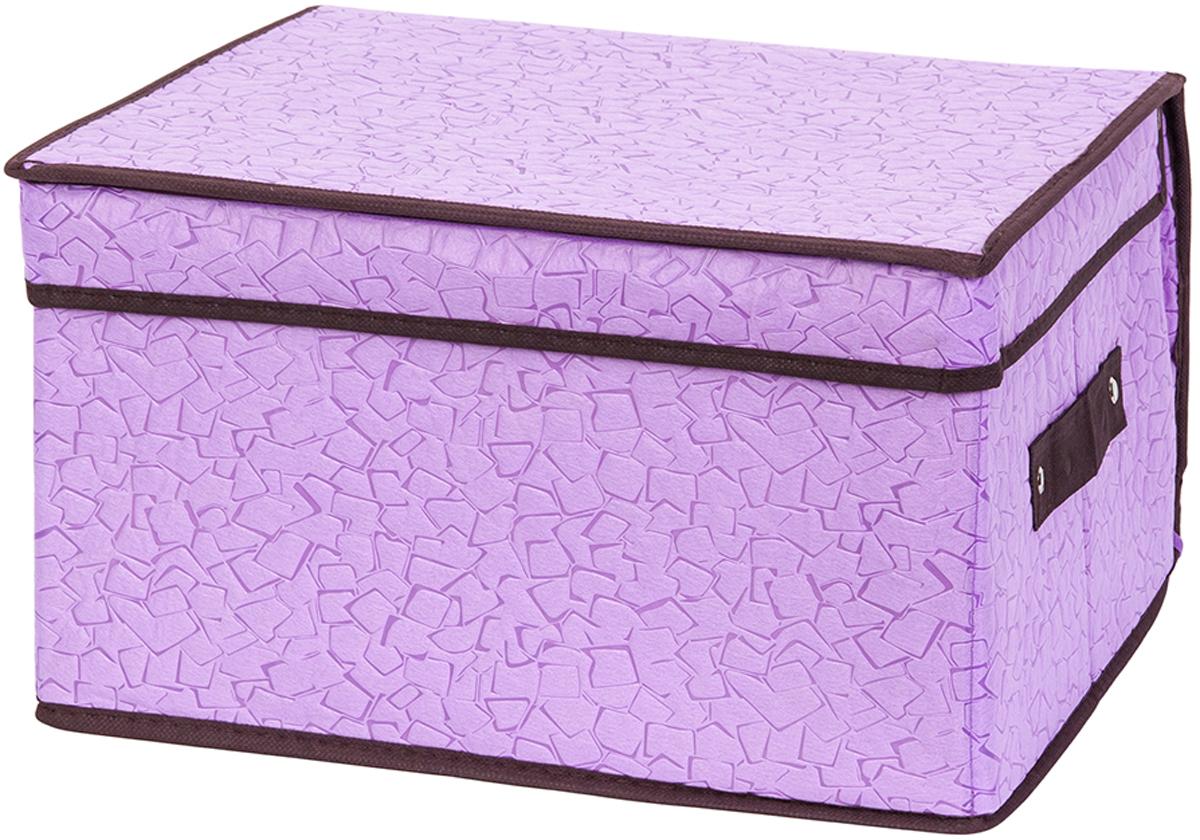 Кофр складной для хранения El Casa Сиреневая мозаика, 35 х 30 х 20 см кофр для хранения el casa звезды складной цвет розовый 40 x 30 x 25 см