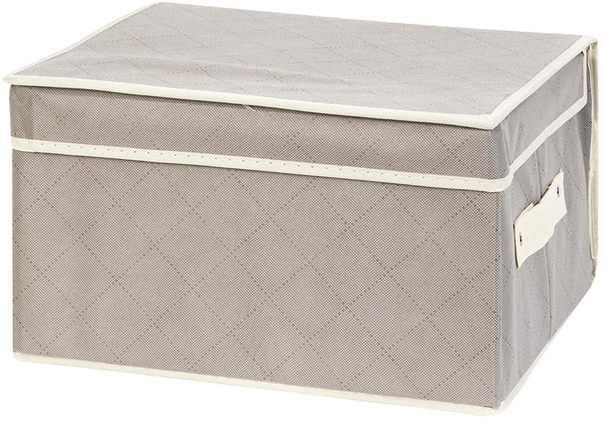 Кофр складной для хранения El Casa Геометрия стиля, 35 х 30 х 20 см370743Кофр для хранения представляет собой закрывающуюся крышкой коробку жесткой конструкции, благодаря наличию внутри плотных листов картона. Специально предназначен для защиты Вашей одежды от воздействия негативных внешних факторов: влаги и сырости, моли, выгорания, грязи. Благодаря оригинальному дизайну кофр будет гармонично смотреться в любом интерьере. Размер 35х30х20 см.Кофр складной для хранения 35*30*20 см. EL Casa Геометрия стиля серебряный + ручка