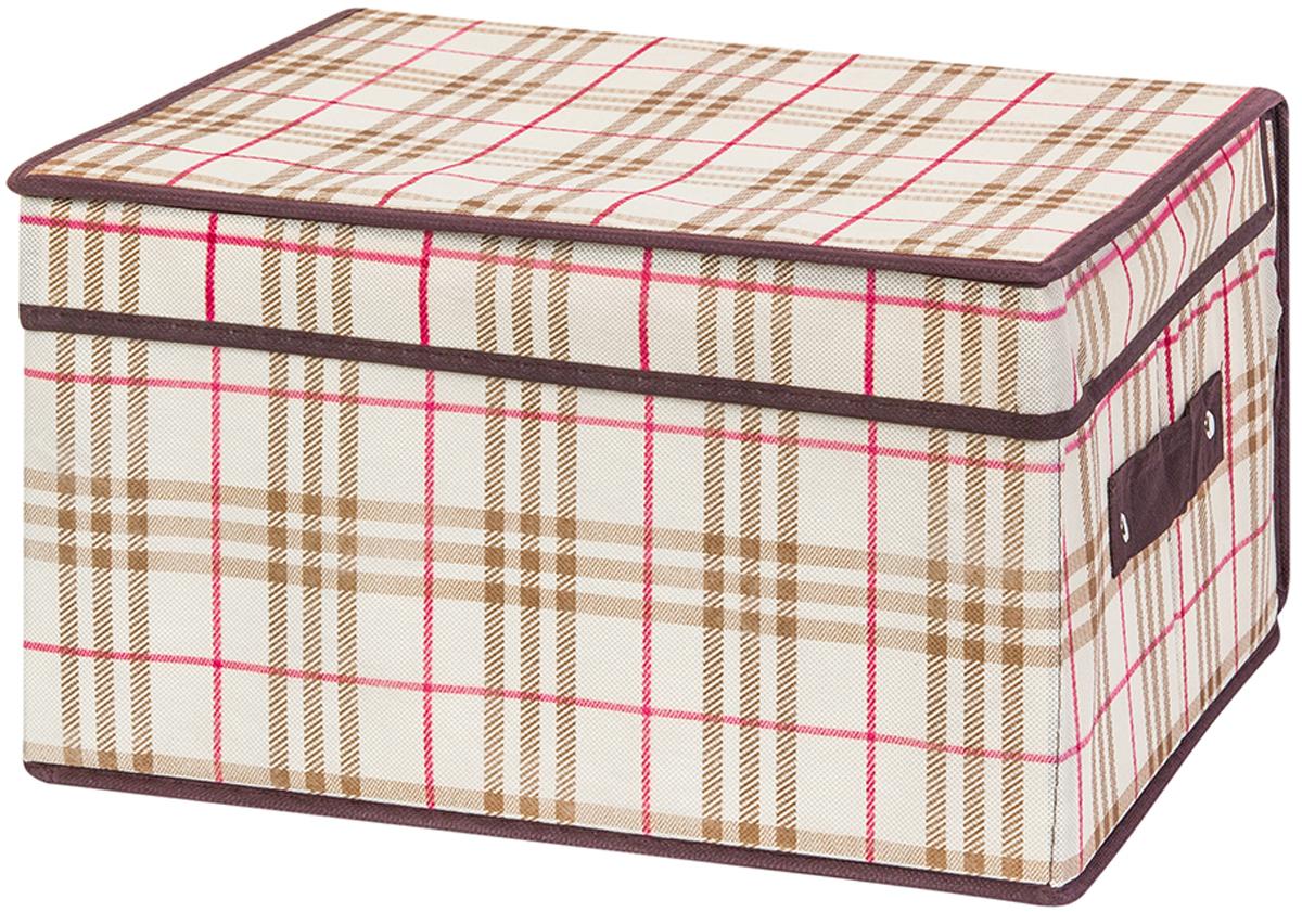 Кофр складной для хранения El Casa Шотландская клетка, 35 х 30 х 20 см370745Кофр для хранения представляет собой закрывающуюся крышкой коробку жесткой конструкции, благодаря наличию внутри плотных листов картона. Специально предназначен для защиты ваших вещей от воздействия негативных внешних факторов: влаги и сырости, моли, выгорания, грязи. Благодаря оригинальному дизайну кофр будет гармонично смотреться в любом интерьере.