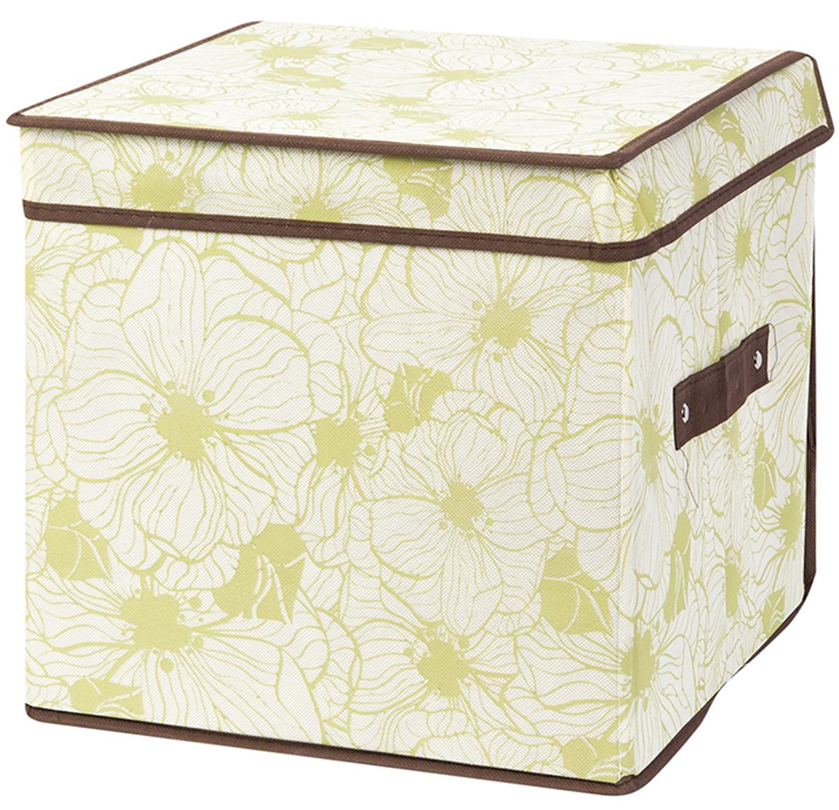 Кофр складной для хранения El Casa Цветы на бежевом, 31 х 31 х 31 см370748Кофр для хранения представляет собой закрывающуюся крышкой коробку жесткой конструкции, благодаря наличию внутри плотных листов картона. Специально предназначен для защиты Вашей одежды от воздействия негативных внешних факторов: влаги и сырости, моли, выгорания, грязи. Позволит организовать хранение перчаток, ремней, шарфов. Размер 31х31х31 см.Кофр складной для хранения 31*31*31 см. EL Casa Цветы на бежевом + ручка, квадрат