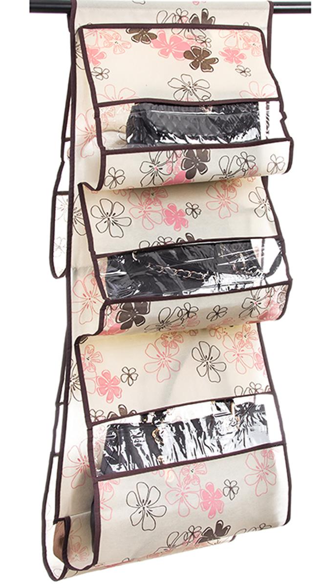 Кофр подвесной для сумок El Casa Лето, 5 секций, 40 х 90 см370763Кофр подвесной для сумок El Casa Лето с 5 прозрачными секциями изготовлен из высококачественного материала. В шкафу всегда будет порядок, так как кофр для сумок не только очень компактен, но и, несмотря на свои размеры, вмещает множество вещей. Пять секций, расположенных с двух сторон, позволят вам удобно разместить свои сумочки, полотенца, зонтики и многое другое в легкодоступном месте. Размер: 40 х 90 см.