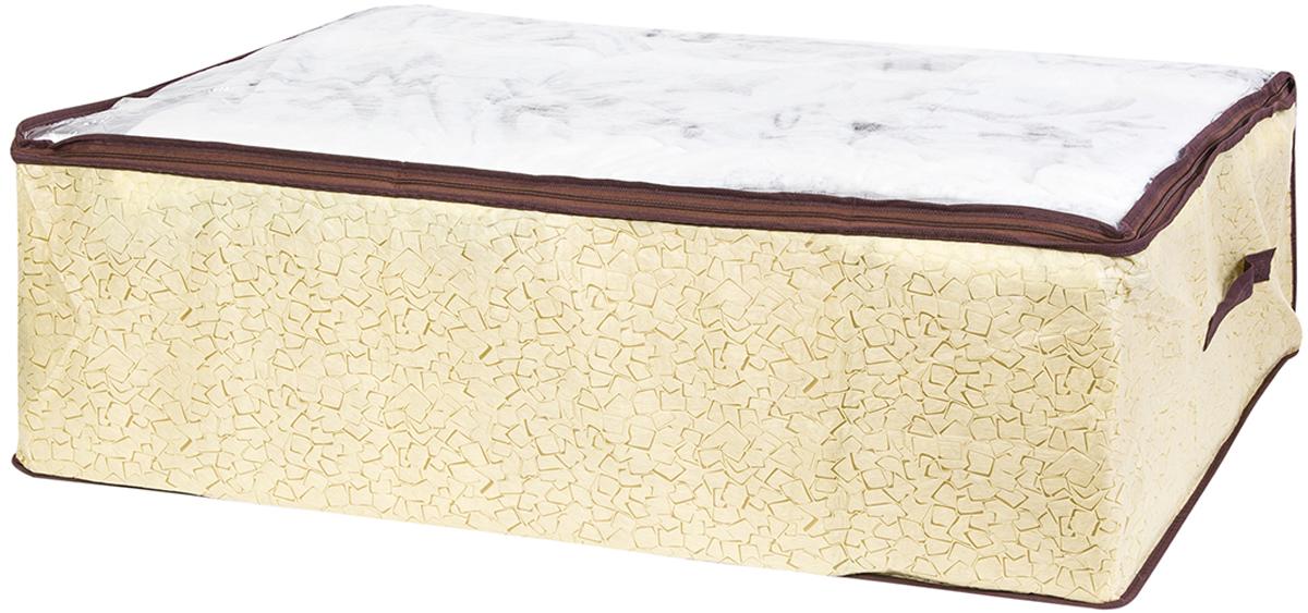 Кофр для хранения одеял и пледов El Casa Песочная мозаика, 80 х 60 х 25 см кофр складной для хранения el casa песочная мозаика 31 х 31 х 31 см
