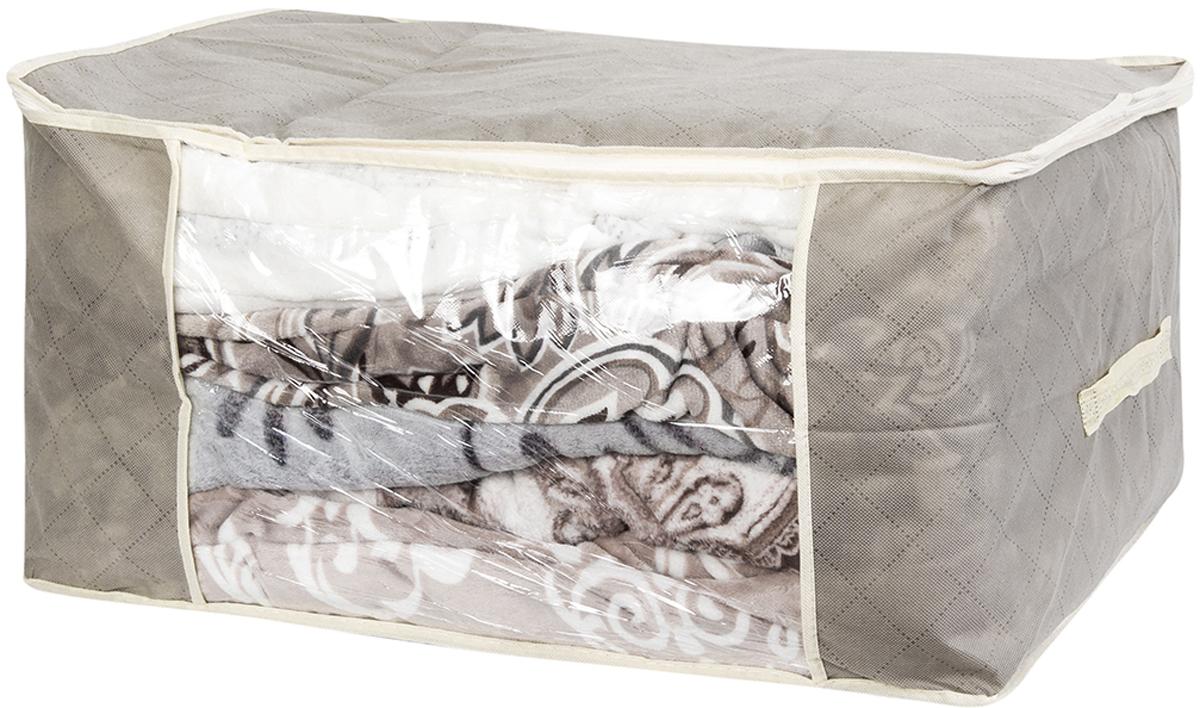 Кофр для хранения одеял и пледов El Casa Геометрия стиля, 60 х 45 х 30 см кофр для хранения одеял и пледов el casa звезды цвет розовый 80 х 60 х 25 см