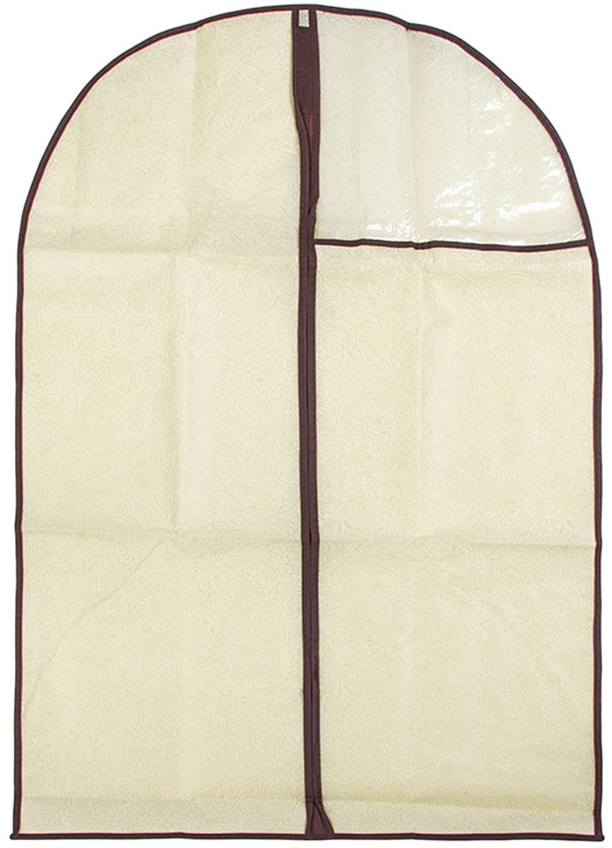 Чехол для одежды, изготовленный из высококачественного нетканого материала, защитит вашу одежду от пыли и других загрязнений и поможет надолго сохранить ее безупречный вид. Благодаря особой фактуре чехол не пропускает пыль. Но в то же время позволяет воздуху свободно проникать внутрь, обеспечивая естественную вентиляцию. Материал легок и удобен, не образует складок. Застегивается на молнию. Окошко из пластика позволяет видеть, какие вещи находятся внутри. Размер: 60 х 100 см