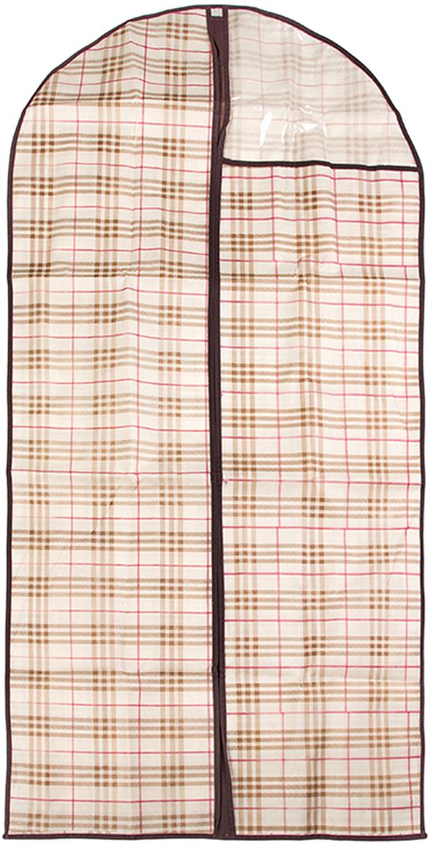 Чехол для одежды El Casa Шотландская клетка, подвесной, 60 х 137 см370811Чехол для одежды, изготовленный из высококачественного нетканого материала, защитит вашу одежду от пыли и других загрязнений и поможет надолго сохранить ее безупречный вид. Благодаря особой фактуре чехол не пропускает пыль. Но в то же время позволяет воздуху свободно проникать внутрь, обеспечивая естественную вентиляцию. Материал легок и удобен, не образует складок. Застегивается на молнию. Окошко из пластика позволяет видеть, какие вещи находятся внутри. Размер: 60 х 137 см