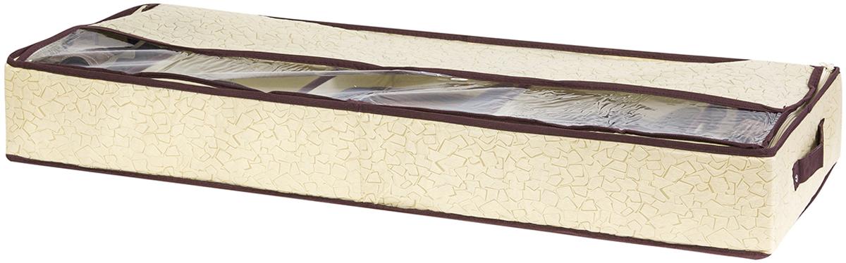 """Органайзер для обуви El Casa """"Песочная мозаика"""" поможет сохранить сезонную обувь, позволит с умом распорядиться пространством Вашего гардероба. Прозрачные окошки очень удобны, дают представление о содержимом органайзера. Ваша обувь всегда в идеальном состоянии! Органайзер содержит 5 секций и имеет прозрачную крышку."""