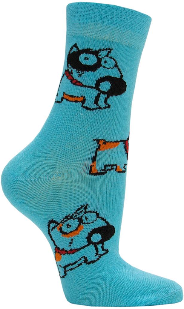 Носки женские Hosiery, цвет: голубой. 5217. Размер 36/395217Женские классические носки выполнены из высококачественного гребенного хлопка с небольшим добавлением полиамида и эластана, которые обеспечивают максимальный комфорт, износостойкость и превосходную посадку. Удобные и приятные на ощупь носочки, позволяют коже дышать. Эластичная резинка плотно облегает ногу, не сдавливая ее, обеспечивает дополнительный комфорт. Носки со стандартным паголенком оформлены ярким принтом.