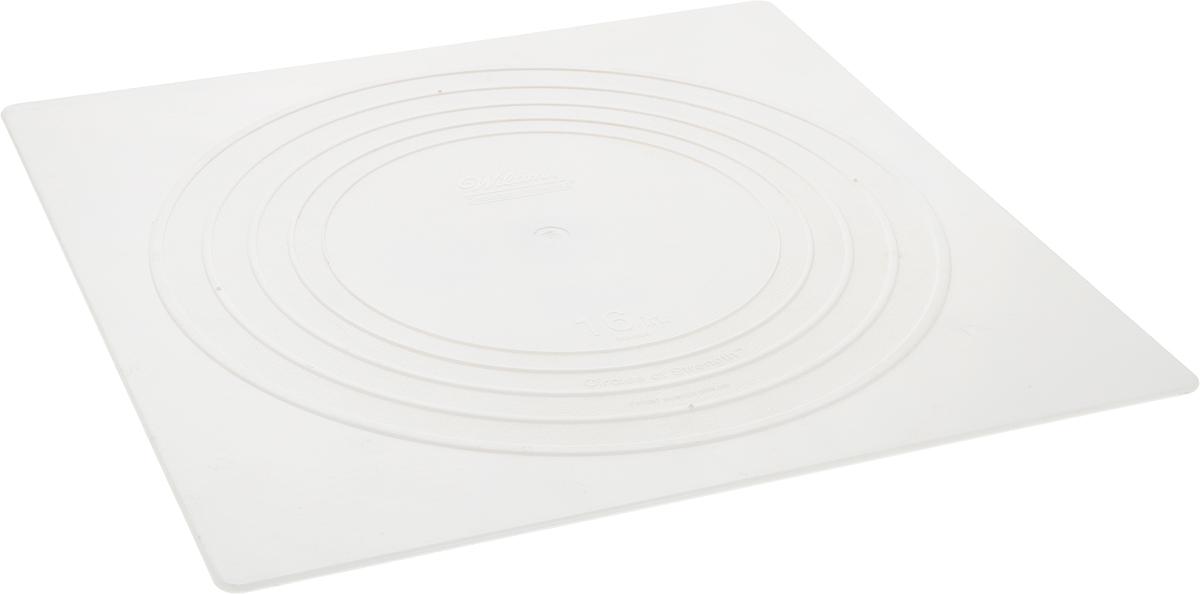 Тарелка под торт Wilton Выбор кондитера, квадратная, 41 х 41 смWLT-302-1806Такие квадратные тарелки используются отдельно или для сборки многоуровневого торта. Надежная поддержка, гарантированное качество, гладкие края. Материал: пластик.