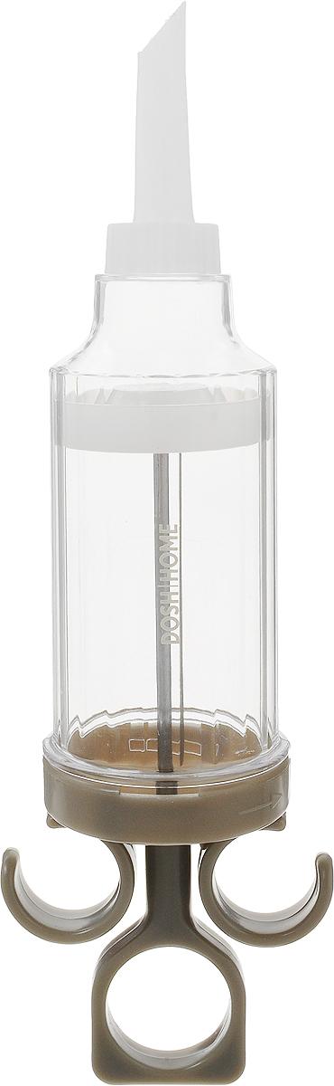 Шприц кондитерский Dosh Home Gemini, поршневый, 8 насадок300326Кондитерский шприц Dosh Home Gemini с 8 сменными насадками, изготовленный из пластика,предназначен для украшения тортов, пирожных, кексов и любой другойвыпечки. Каждая насадка имеет уникальное отверстия для различных форм крема.Если вы любите самостоятельно приготавливать домашнюю выпечку, то кондитерский шприцDosh Home Gemini станет незаменимым помощником на вашей кухне. Идеален дляукрашенияфруктовых десертов, пирогов и пончиков. Так же предусмотрена возможность наполненияэклеров, твороженных колец, трубочексо сгущенкой и любой другой выпечки с внутреннем наполнением. Можно мыть впосудомоечной машине.