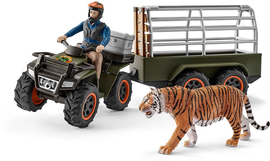 Schleich Набор фигурок Рейнджер на квадроцикле с прицепом schleich игровой набор силос с животными