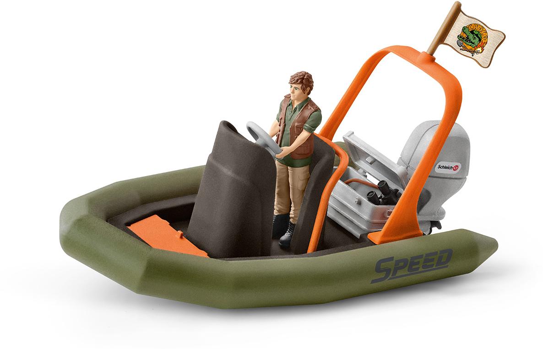 Schleich Набор фигурок Рейнджер в надувной лодке schleich игровой набор кормление и уход за фризской лошадью