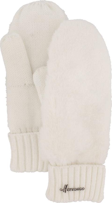 Варежки женские Herman, цвет: белый. PYROP W17. Размер универсальный