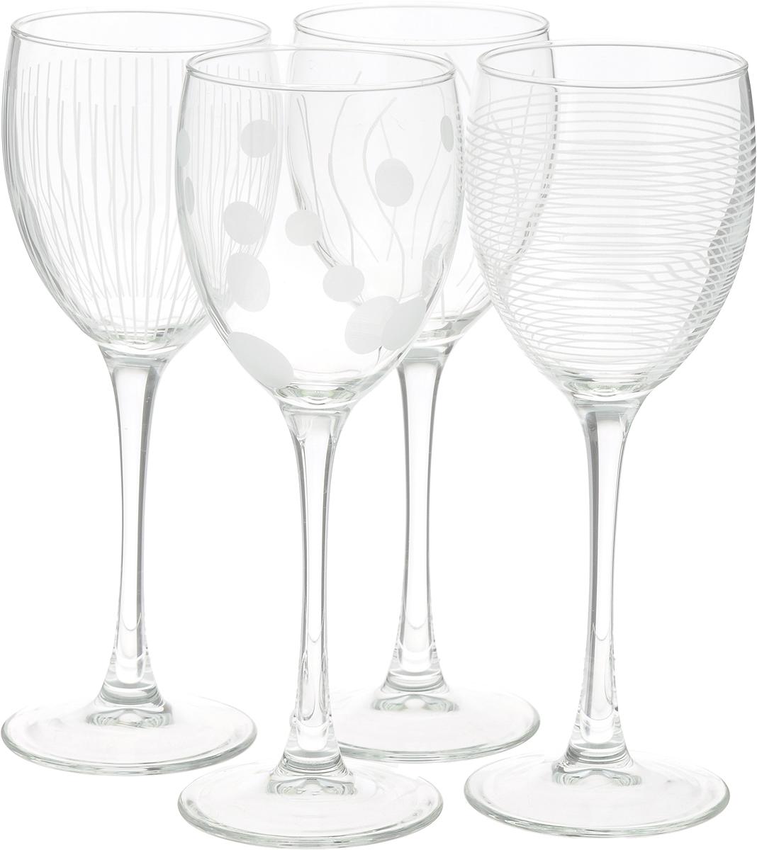Набор фужеров для вина ОСЗ Лаунж Клаб, 250 мл, 4 штN5287Набор фужеров (бокалов) для вина ЛАУНЖ КЛАБ, 4 штуки. Производитель: ARC International. Материал: Стекло. Объем: 250 мл. Можно мыть в посудомоечной машине.