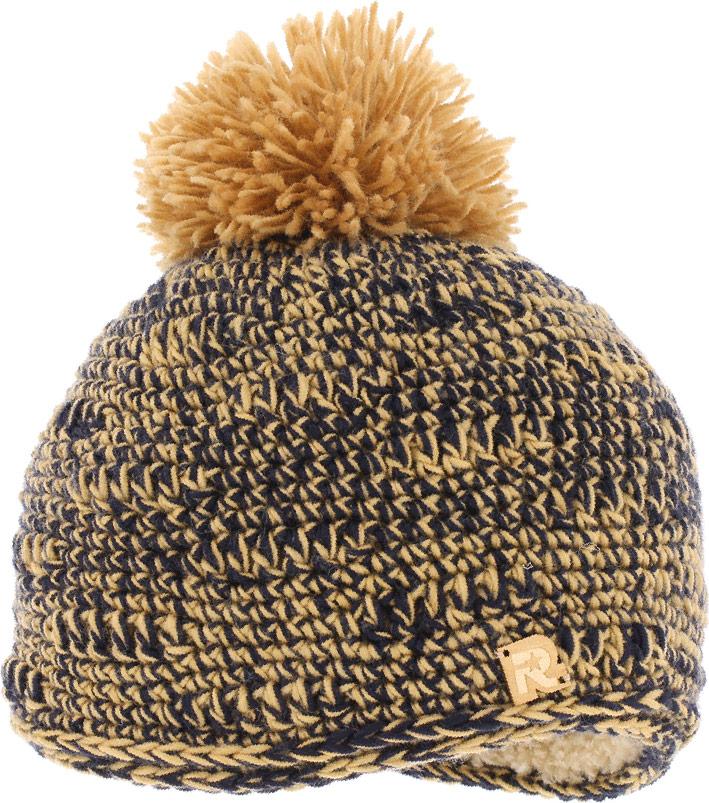 Шапка женская R.Mountain, цвет: оранжевый, черный. ICE 8163. Размер универсальныйICE 8163Теплая вязаная шапка R.Mountain идеальна для зимних холодов.Шапка средней вязки выполнена из натуральной шерстяной и мягкой акриловой пряжи, что позволяет ей великолепно сохранять тепло и обеспечивает высокую эластичность и удобство посадки. Внутри имеет мягчайшую плюшевую подкладку. Шапка оформлена фактурной вязкой, пушистым помпоном и декорирована деревянной нашивкой в виде логотипа бренда.Такая шапка станет модным и стильным дополнением вашего зимнего гардероба, а приятный на ощупь материал подарит ощущение тепла и комфорта.