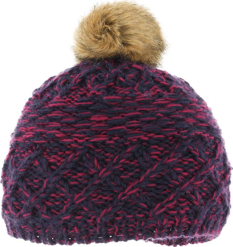 Шапка женская Ignite, цвет: розовый. B-8106. Размер универсальныйB-8106Очень уютная шапка Ignite выполнена из акриловой пряжи с добавлением шерсти, она невероятно мягкая и приятная на ощупь. Шапка оформлена меховым помпоном.
