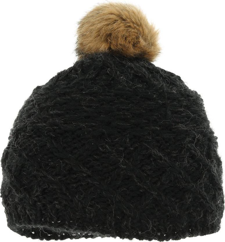 Шапка женская Ignite, цвет: черный. B-8106. Размер универсальныйB-8106Очень уютная шапка Ignite выполнена из акриловой пряжи с добавлением шерсти, она невероятно мягкая и приятная на ощупь. Шапка оформлена меховым помпоном.