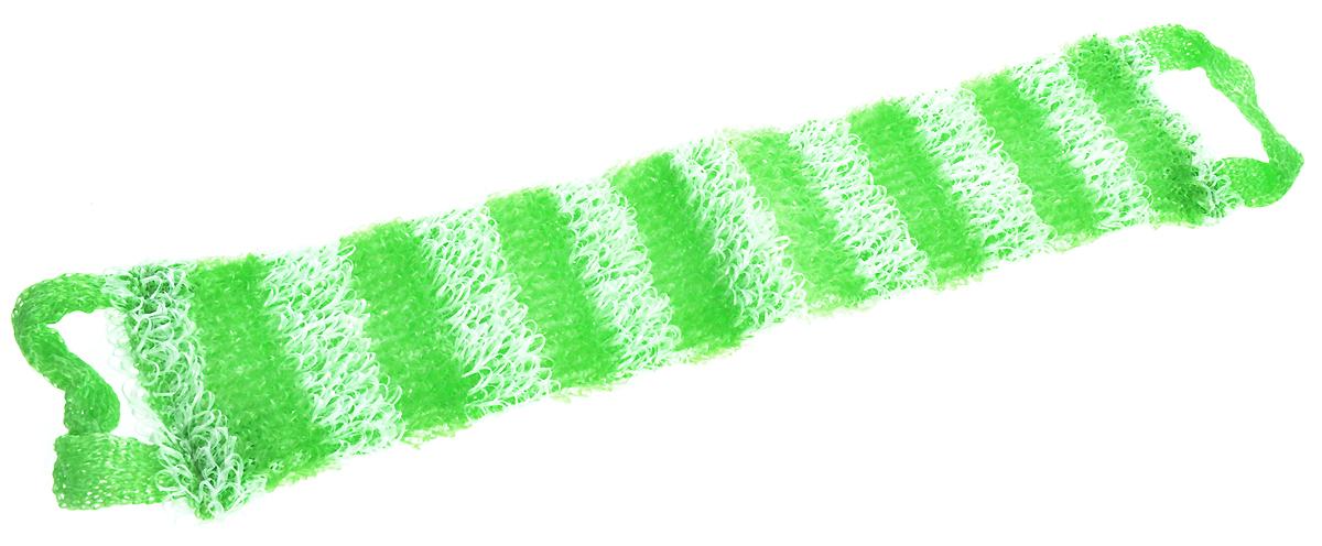 Мочалка Eva Букле. Полосы, вязаная, с ручками, цвет: зеленый, белый. М391О63/01Вязаная синтетическая мочалка Eva Букле. Полосы, изготовленная из полипропилена, отличноочищает кожу и создает обильную пену. Она быстро сохнет, не требует ухода, существенноэкономит моющее средство и имеет длительный срок службы.Размер мочалки (без учета ручек): 47 х 10 х 1 см.Длина мочалки (с учетом ручек): 64 см.