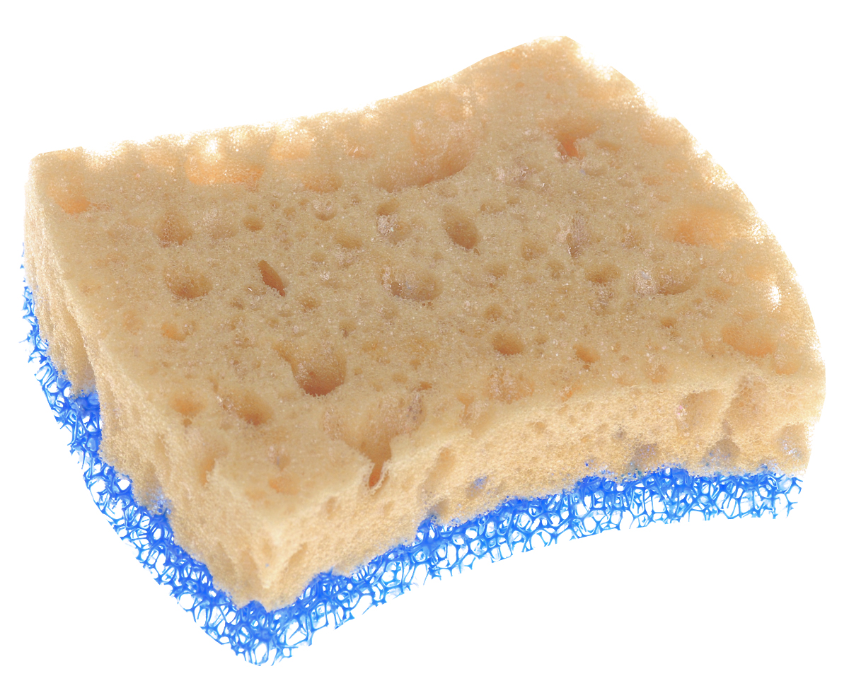 Губка для мытья посуды Home Queen, цвет: желтый, синий57774_желтый, синийГубка для мытья посуды Home Queen, изготовленная из инновационных материалов, имеет более длительный срок службы - до 3 месяцев и даже более, заменяет 5-7 поролоновых губок. Она сильно вспенивает и хорошо удерживает моющее средство, сокращая его расход. Деликатная и прочная чистящая сторона подходит для бережного мытья тефлоновых и керамических поверхностей. Размер губки: 9 х 7,5 х 3 см.