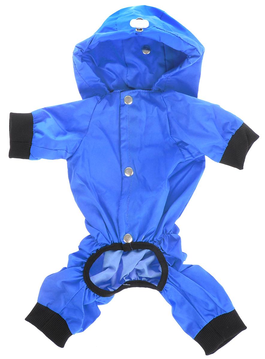 Дождевик прогулочный для собак GLG  Крылья , цвет: синий. Размер L - Одежда, обувь, украшения