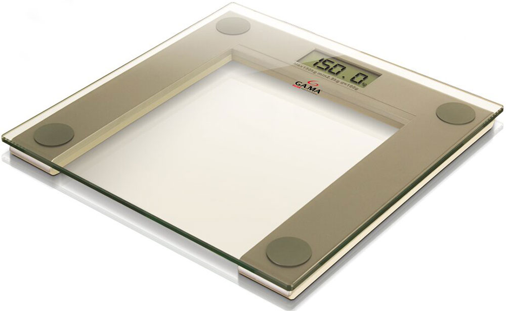 GA.MA SCG-400, Olive напольные весыGSC0202Весы для измерения массы тела GA.MA SCG-400 имеют эксклюзивный тонкий дизайн и высоту всего 2 см. Они оснащены большим цифровым LCD дисплеем (75 х 30 мм), что обеспечивает превосходное отображение результатов взвешивания. Прибор оснащен системой автоматического включения, он отображает точный вес при первом контакте с поверхностью. Максимальная нагрузка составляет 150 кг. Весы работают от батарейки типа CR2032 (батарейка входит в комплект).