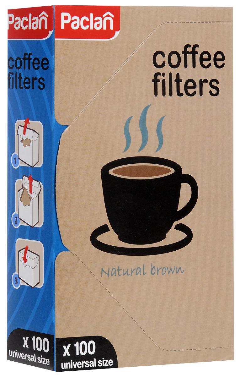 Набор фильтров для кофе Paclan, небеленые, 100 шт135012/135011/135010/304004_Universal Size