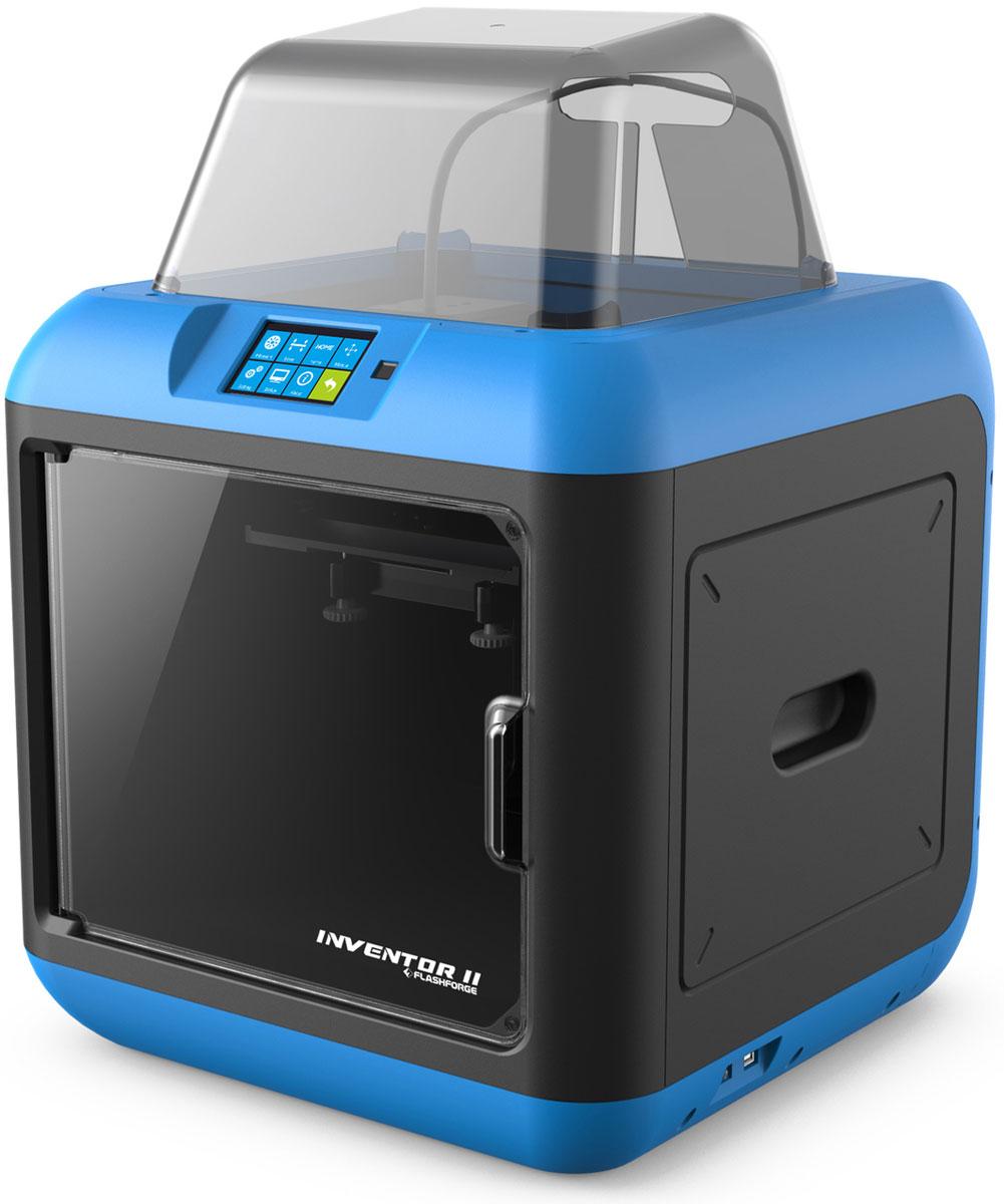FlashForge Inventor II, Blue 3D принтерУТ0000070953D-печать сFlashForge Inventor IIстала намного легче и более доступна, чем когда-либо. 3D принтерспособен начать печатать прямо из коробки все за несколько движений. Все нагревающиеся элементы защищены от прикосновения, и печатный материал, используемыйFlashForge Inventor IIнетоксичный - PLA Finder является идеальным вариантом 3D-принтера для семьи, школы, а также для начинающих пользователей.FlashForge Inventor II является простым в использовании 3D-принтером. Он собран и полностью готов к работе. И теперь с помощью его системы калибровки вы потратите немного времени на настройку перед началом печати. Отличительной чертой FlashForge Inventor II являются: 3,5-дюймовый сенсорный экран, сенсор окончания пластика в процессе печати, USB-флешка и Wi-Fi - 2-го поколения и многое другое. FlashForge Inventor II имеет закрытый корпус, все кабели и механизмы скрыты внутри пластиковой рамы принтера.Все нагревающиеся компоненты находятся вдали от прикосновения. А уровень шума составляет менее 50 дБ. Все это делает 3D принтер более доступным для детей всех возрастов и домашних пользователей 3D-печати. С простым и интуитивно понятным интерфейсом и списком предварительных пользовательских настроек, программное обеспечение FlashPrint позволит вам легко войти в удивительный мир 3D-печати. Отличия: умные поддержки, перевод 2D-изображений в 3D модели, резак и др., все это функциональная программа слайсера позволяющая достигать большего при 3D печати.Технология печати: моделирование методом наплавления (FDM/FFF) Диаметр сопла: 0,4 мм Область построения: 140 x 150 x 140 мм Толщина слоя: 0,05-0,4 ммСтруйный или лазерный принтер: какой лучше? Статья OZON Гид