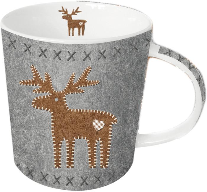 Кружка Paperproducts Design Felt Reindeer, 350 мл603173Яркая большая кружка объемом 350 мл будет прекрасным рождественским подарком для друзей, а также родных и близких людей. Это не только красивый, но и функциональный подарок, который не оставит равнодушным даже самого взыскательного любителя ароматного чая.Кружка выполнена из высококачественного фарфора, благодаря чему ее можно использовать в качестве посуды для микроволновой печи, а также она прекрасно подходит для посудомоечной машины. Кружка предлагается в наборе с красивой подарочной коробкой идентичного оформления.
