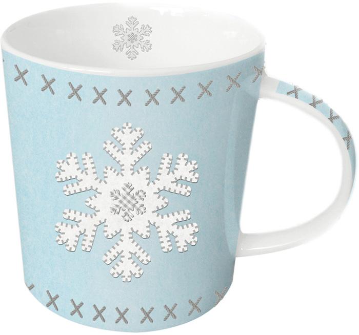 Кружка Paperproducts Design Felt Snowflake, 350 мл603177Яркая большая кружка объемом 350 мл будет прекрасным рождественским подарком для друзей, а также родных и близких людей. Это не только красивый, но и функциональный подарок, который не оставит равнодушным даже самого взыскательного любителя ароматного чая.Кружка выполнена из высококачественного фарфора, благодаря чему ее можно использовать в качестве посуды для микроволновой печи, а также она прекрасно подходит для посудомоечной машины. Кружка предлагается в наборе с красивой подарочной коробкой идентичного оформления.