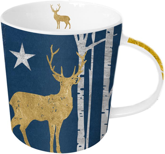 Кружка Paperproducts Design Mystic Deer blue, 450 мл, с настоящим золотом603204Яркая большая кружка будет прекрасным подарком для друзей, а также родных и близких людей. Это не только красивый, но и функциональный подарок, который не оставит равнодушным даже самого взыскательного любителя ароматного чая. Модель выполнена из высококачественного фарфора с нанесением принта. Кружка имеет большой объем – 0,45 Л, поэтому подходит для чая, пунша, морса и других любимых напитков. Главная особенность кружки – это стильная аппликация в виде оленя из настоящего золота. К кружке прилагается подарочная коробка с идентичным оформлением.