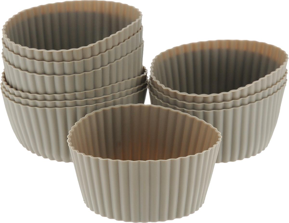 Форма для выпечки силиконовая Dosh Home Gemini, диаметр 7 см, 10 шт. 300310