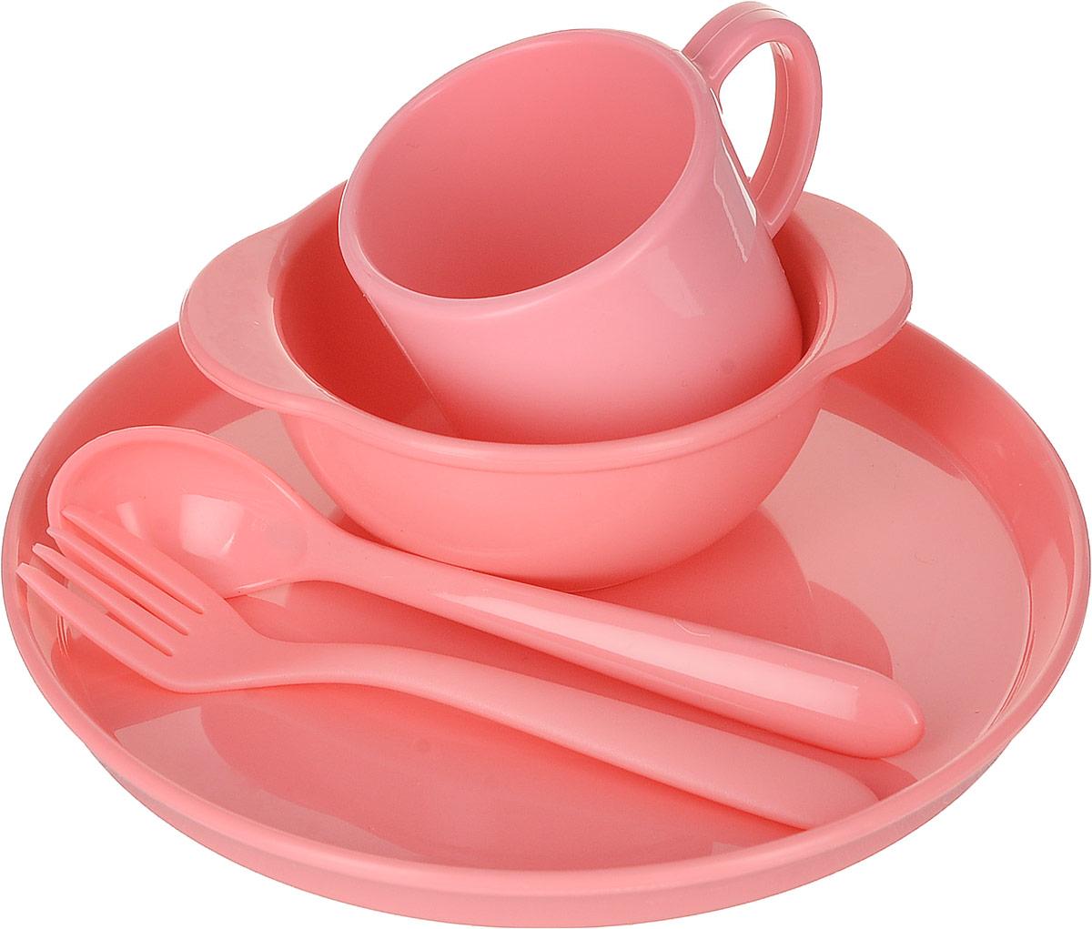 Набор посуды для детей Dosh Home Amila Kids, цвет: розовый. 400211400211Детский набор посуды сочетает в себе изысканный дизайн с максимальной функциональностью. В набор входят миска, тарелка, кружка, вилка, ложка. Предметы набора выполнены из высококачественного силикона. Набор упакован в красочную, подарочную упаковку.Силикон не впитывает запах и вкус продуктов, устойчив к царапинам. Подходит для микроволновой печи, холодильника. Можно мыть в посудомоечной машине. Мыть обычными моющими средствами, не использовать агрессивные вещества, металлические мочалки, острые предметы и т.д.