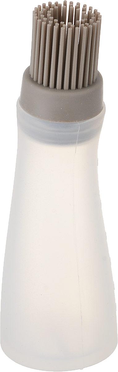Кисточка силиконовая Dosh Home Gemini, с ручкой-контейнером. 300327412B000/7044Кисточка предназначена для смазывания форм для запекания, противней, сковородок растительным, оливковым или растопленным сливочным маслом. Довольно часто она используется как кондитерская кисть: для нанесения яичного белка, маринада и другого. Относительно новый способ применения - намазывание маринада или соуса при приготовлении мяса или птицы.Удобство ручки-контейнера неоспоримо: заполнив ручку растительным маслом - вы равномерно нанесете его на дно посуды перед приготовлением или выпечкой, заполнив ручку жидким маринадом или соусом, можно добиться идеального пропитывания без усилий.Изготовлено из высококачественного силикона. Силиконовая кисточка не царапает поверхность, не впитывает запахи и не выделяет вредных веществ, выдерживает температуру до 180°С. Легко моется!После применения рекомендуется мыть с использованием жидких моющих средств.