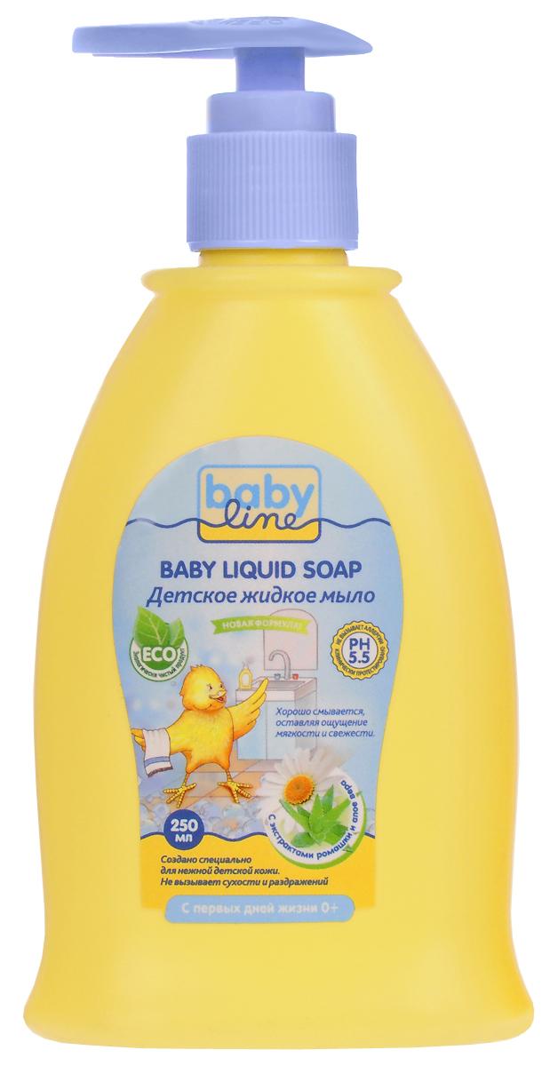 BabyLine Nature Шампунь детский с экстрактом ромашки и алое вера с первых дней жизни 260 млDN 61
