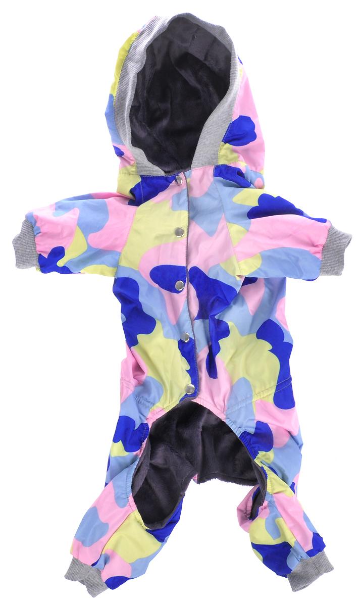 Комбинезон для собак Yoriki Камуфляж, унисекс, цвет: серый. Размер XXXL