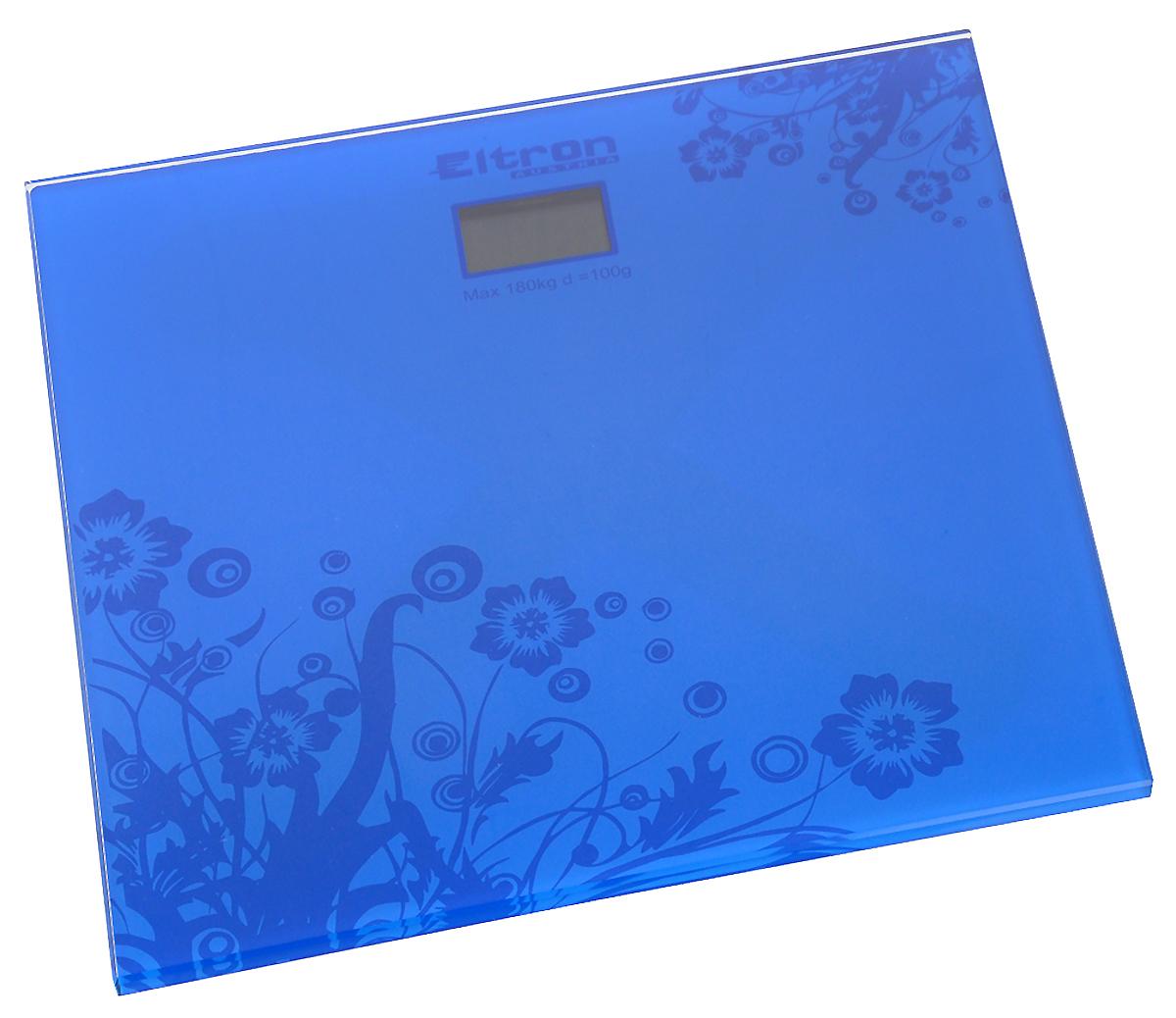 Весы напольные Eltron, цифровые, до 180 кг, цвет: синий весы eltron весы электронные