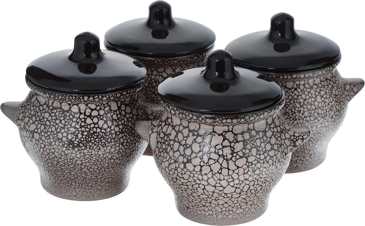 Набор горшочков для запекания Борисовская керамика Престиж, 4 шт, 700 мл. МРМ14456876