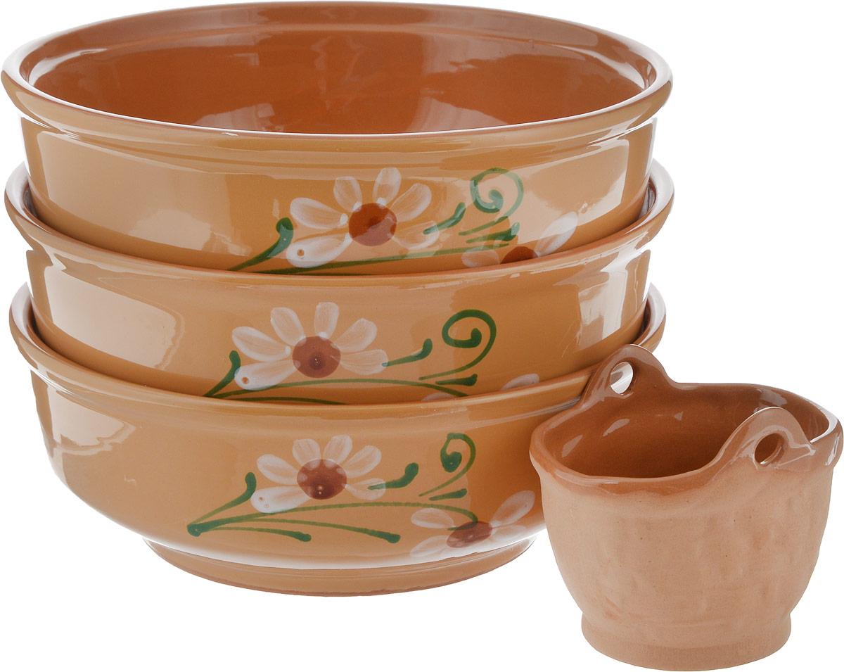 Набор столовой посуды Борисовская керамика Русский, 800 мл, 4 предмета набор столовой посуды борисовская керамика русский 3 предмета 900 мл