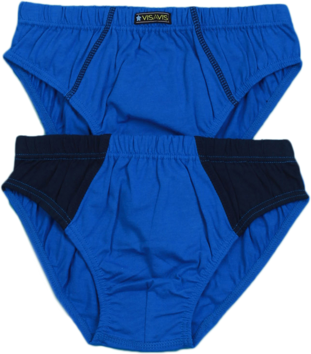 Трусы-слипы для мальчика Vis-A-Vis, цвет: синий, 2 шт. KS14-026. Размер XL (140/146) трусы слипы панда розовые 140 см