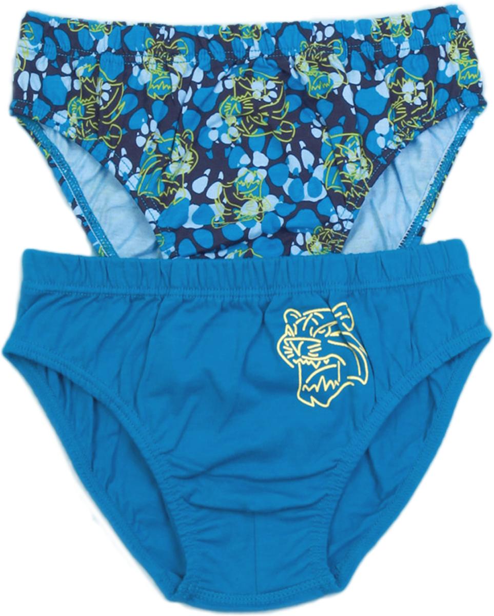 Трусы-слипы для мальчика Vis-A-Vis, цвет: голубой, 2 шт. KS14-028. Размер L (128/134) cottelli трусы с принтом дракон