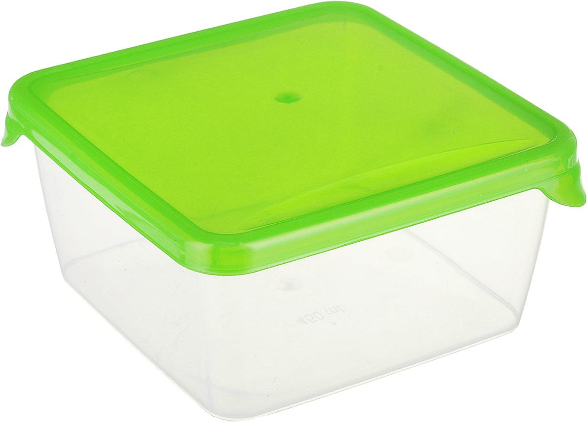 Контейнер P&C Браво, цвет: зеленый, прозрачный, 450 млGR1030_зеленый, прозрачныйКонтейнер P&C Браво выполнен из высококачественного пищевого прозрачного пластика и предназначен для хранения и транспортировки пищи. Крышка легко открывается и плотно закрывается с помощью легкого щелчка. Подходит для использования в микроволновой печи без крышки (до +70°С), для заморозки при минимальной температуре -30°С. Можно мыть в посудомоечной машине.