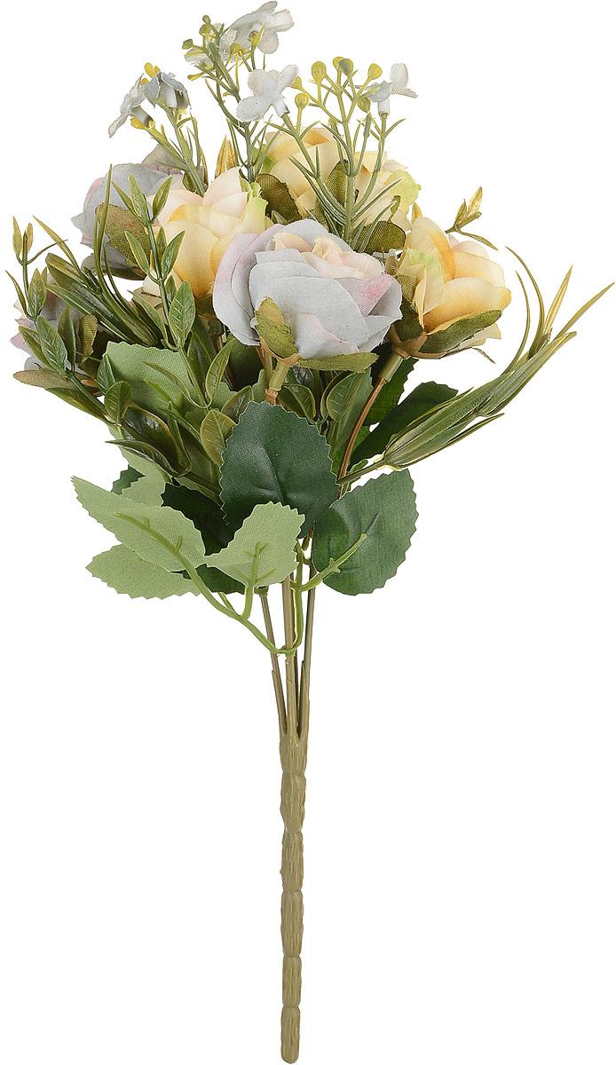Цветы искусственные Engard Роза в букете, цвет: кремовый, серый, высота 27 смE4-238M_кремовый, серыйИскусственные цветы Engard Роза в букете - это популярное дизайнерское решение для создания природного колорита и индивидуальности в интерьере. Декоративный букет роз из семи цветков выглядит довольно реалистично, ярко и является достойной альтернативой натуральным цветам. Розы имеют идеально собранную форму. Не требует постоянного ухода. Высота: 27 см.