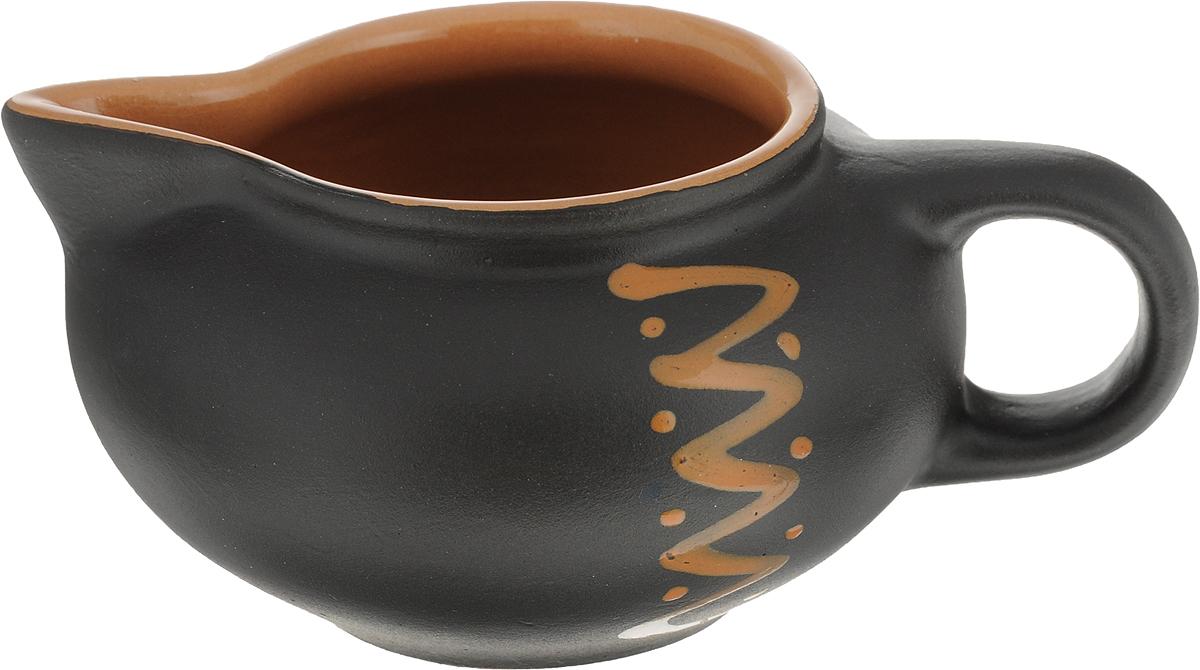 Сливочник Борисовская керамика Чугун, цвет: коричневый, 180 млЧУГ00000571Сливочник Борисовская керамика Чугун выполнен из высококачественной керамики с шершавой поверхностью.. Это изделие предназначено для того, чтобы красиво и аппетитно подавать на стол сливки или молоко к чаю, кофе, супу или фруктам.Диаметр сливочника: 8,5 см.Высота сливочника: 5,5 см.