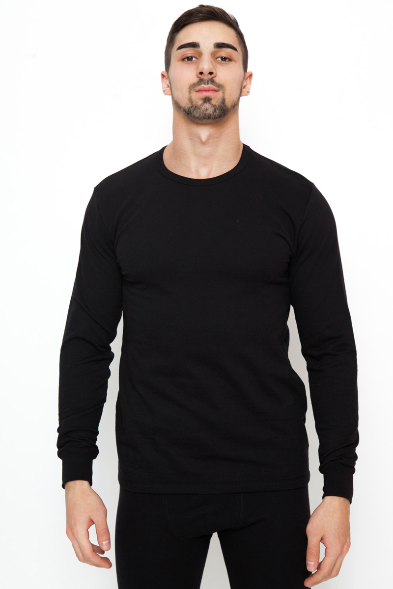 Футболка мужская Torro, цвет: черный. TMFT15. Размер L (50)TMFT15Футболка Torro с длинными рукавами и круглым вырезом горловины выполнена из хлопка с начесом. На рукавах мягкие эластичные манжеты. Футболка обеспечивает максимальный комфорт до -40 градусов мороза.