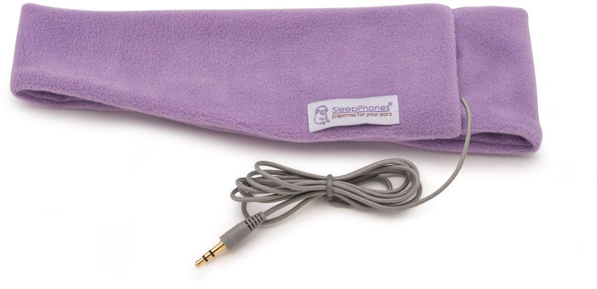 AcousticSheep Classic, Pink наушникиSC6LM-USМягкие наушники проводные SleepPhones Classic quiet lavender